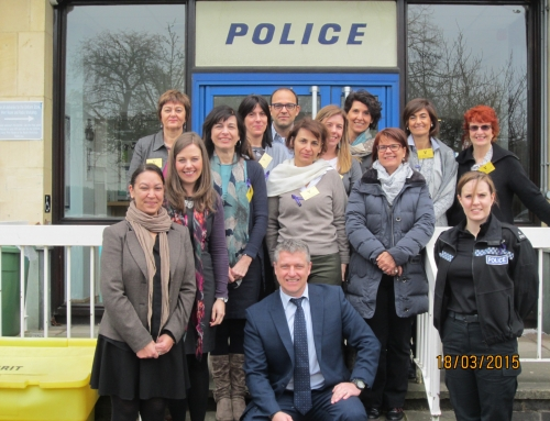 Italian visitors go to the Public Protection Bureau